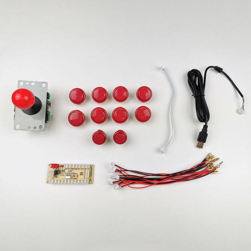 kit-joystick-botones-estilo-sanwa-rojo