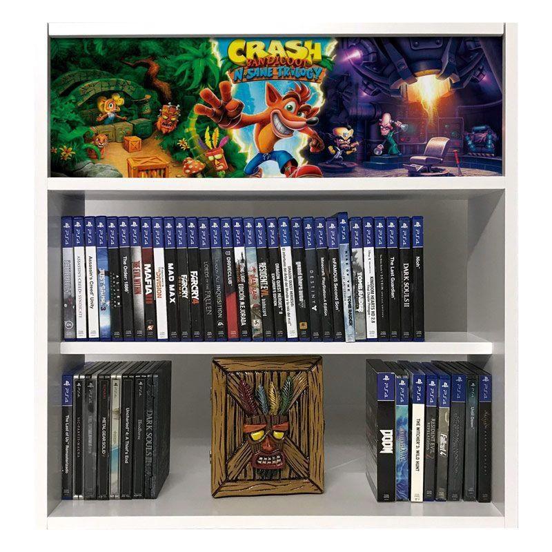 estanteria para juegos crash bandicoot