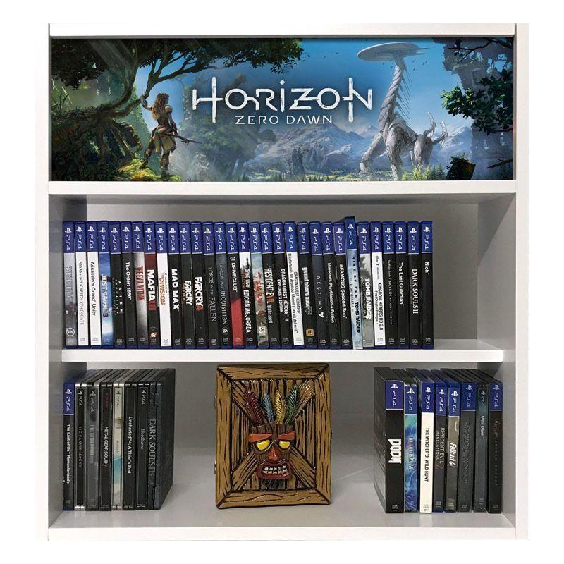 estanteria para juegos horizon