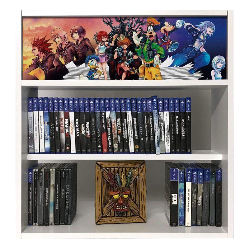 estanteria para juegos kingdom hearts