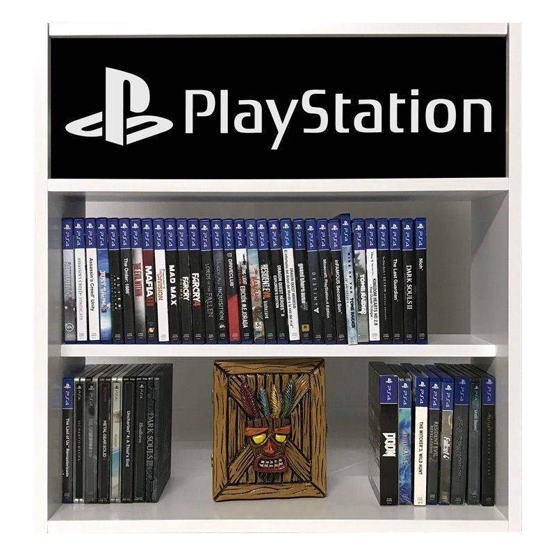 estanteria para juegos playstation negro