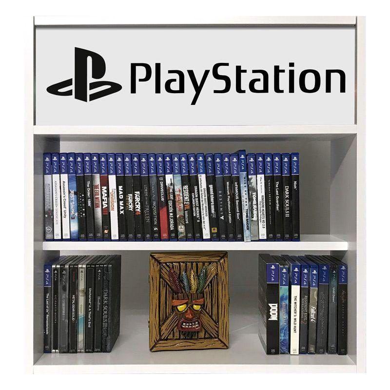 estanteria para juegos playstation blanco