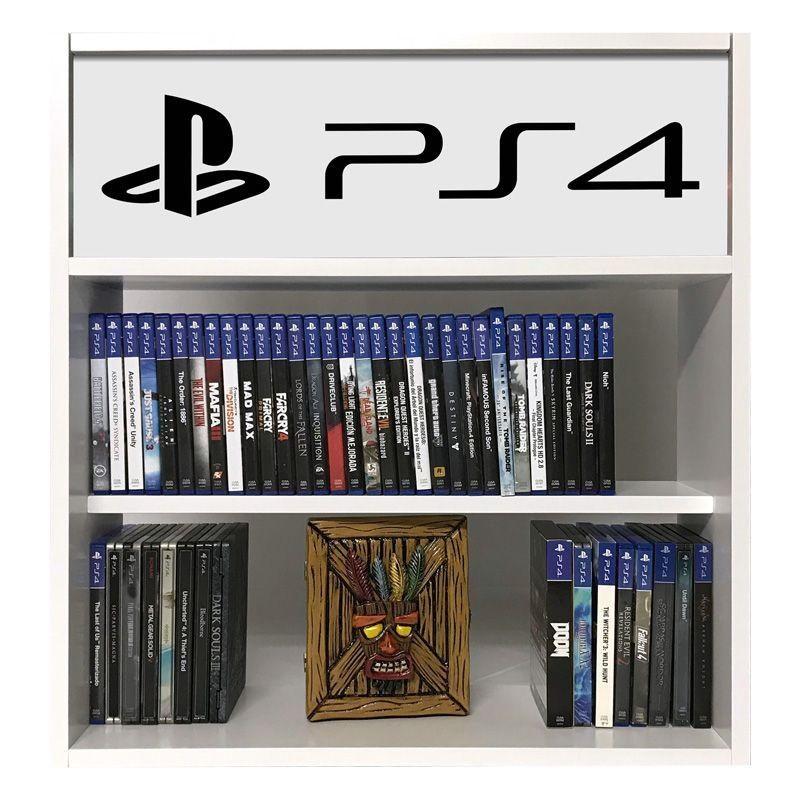 estanteria para juegos ps4 blanco