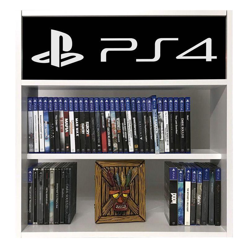 estanteria para juegos ps4 negro