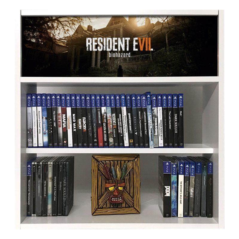 estanteria para juegos resident evil