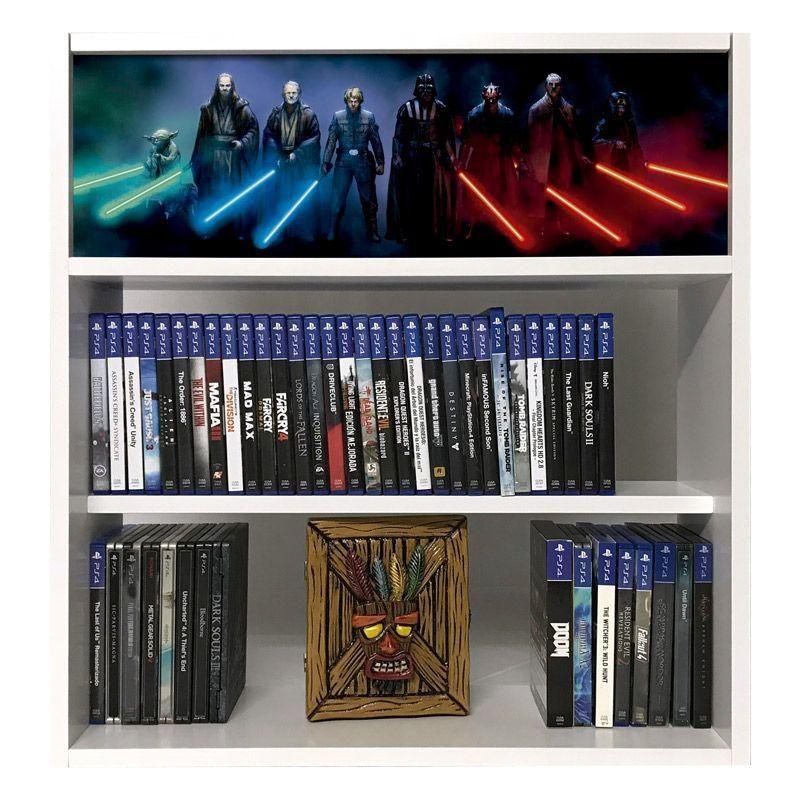 estanteria para juegos star wars