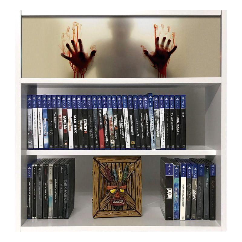 estanteria para juegos zombie