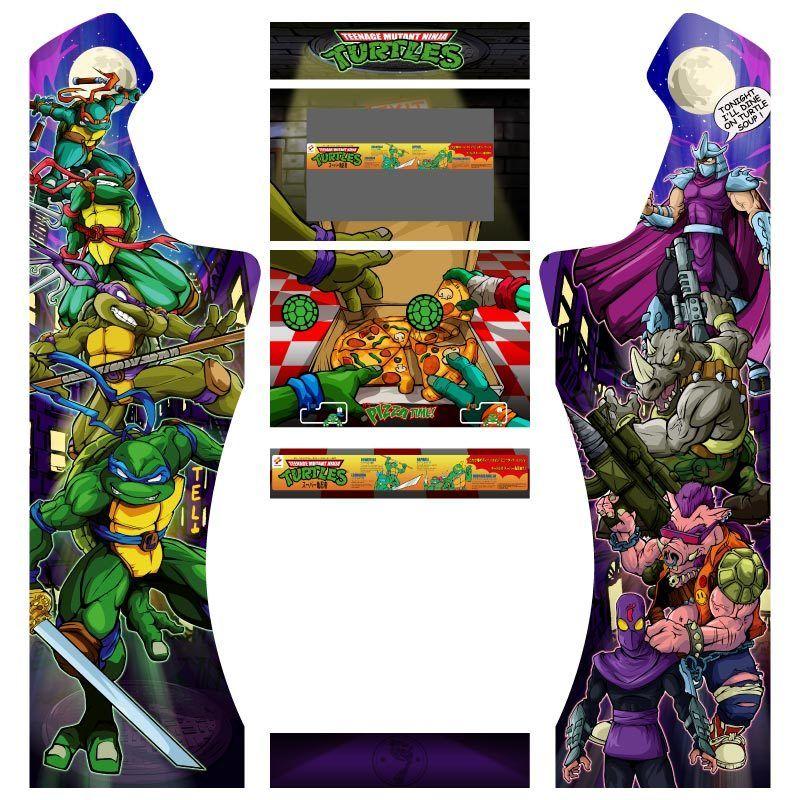 Vinilos arcade Tortugas ninjas con pedestal
