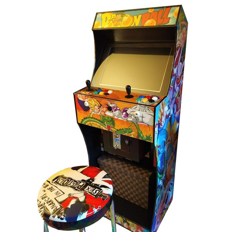 Light bartop arcade with vinyl dragon ball