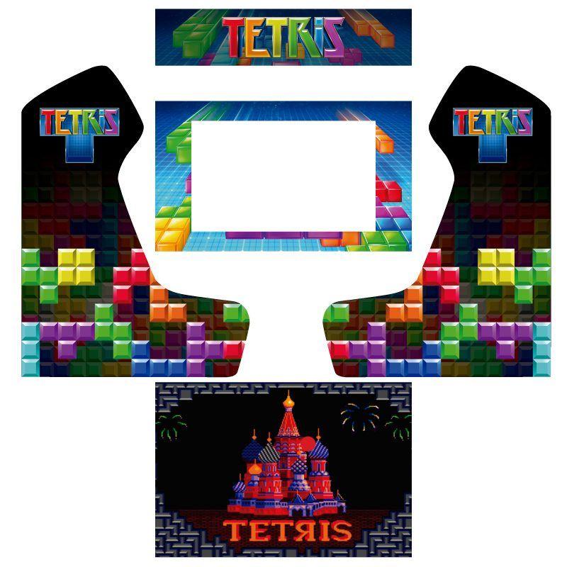 Vinilos bartop premium tetris