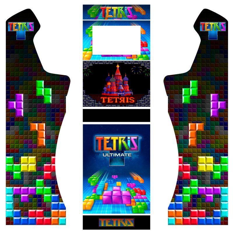 Vinilos tetris bartop premium con pedestal y puerta