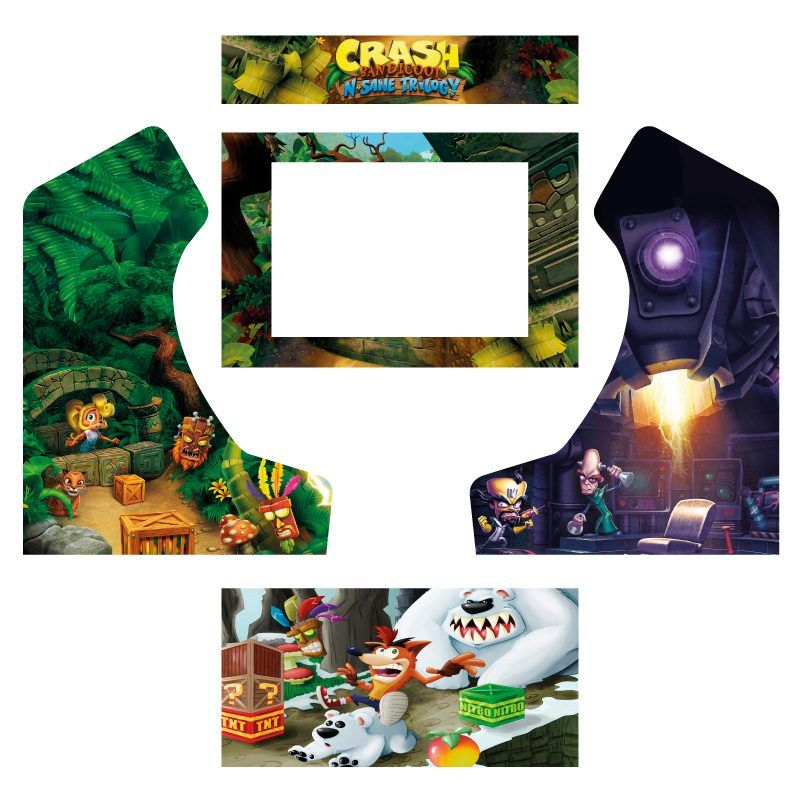 Vinilos crash bandicoot bartop king