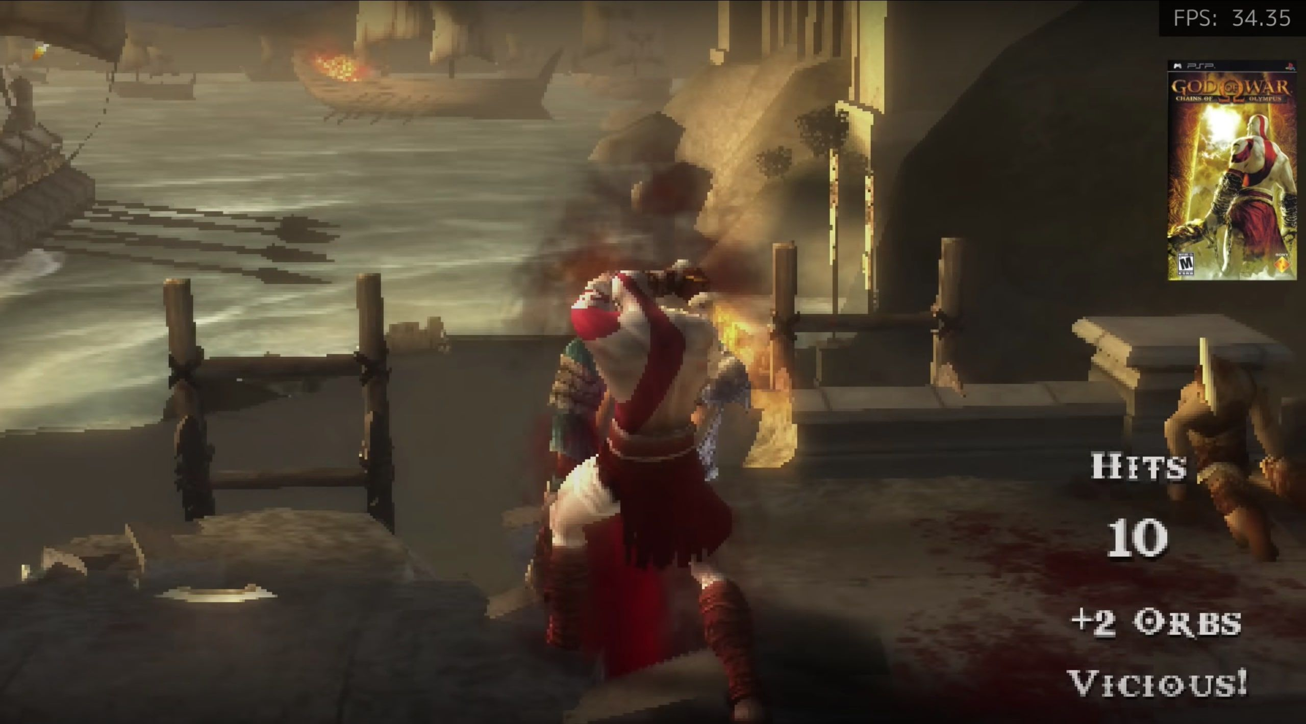 Test emulación God of war chains of olympus Raspberry Pi 4