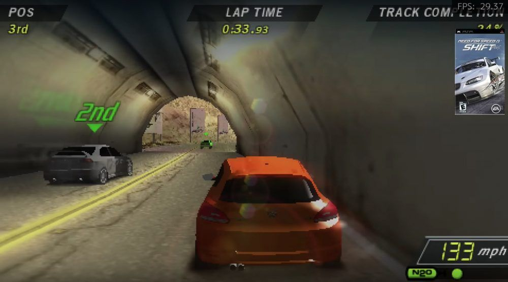 Test emulación Need for speed shift Raspberry Pi 4