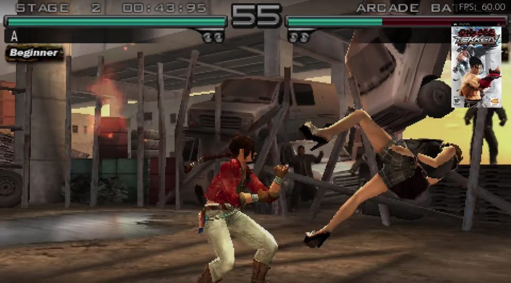 Test emulación Tekken Dark Resurrection Raspberry Pi 4