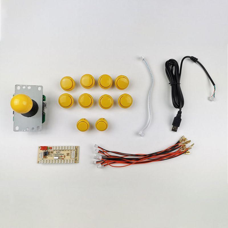 kit-joystick-botones-estilo-sanwa-amarillo