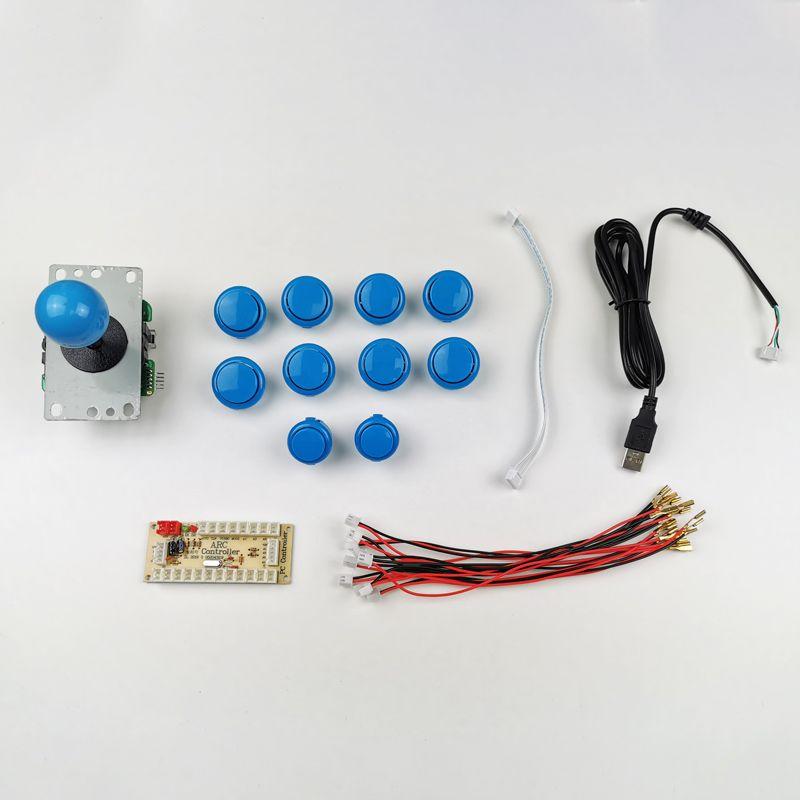 kit-joystick-botones-estilo-sanwa-azul