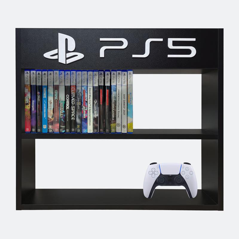 estanteria-para-juegos-PS5-frente-simulacion-negra